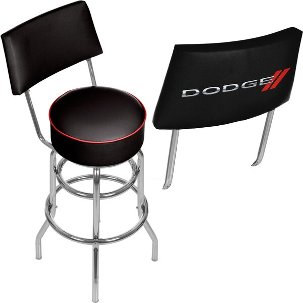 Dodge Logo 31 Swivel Bar Stool by Trademark Global