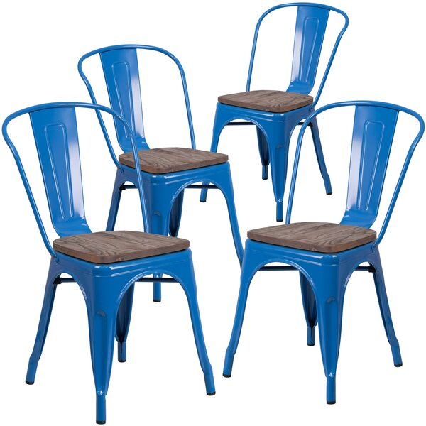 Ketchum Stackable Dining Chair (Set of 4) by Breakwater Bay