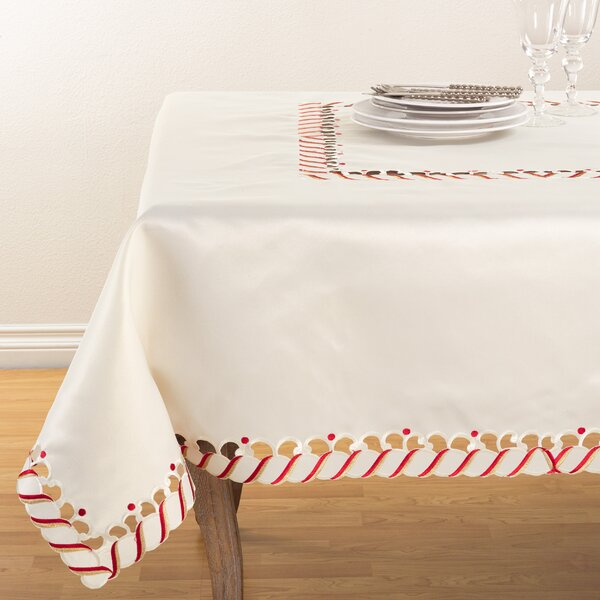 Candy Cane Tablecloth by The Holiday Aisle