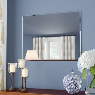 Andover Mills Rectangle Metal Frameless Wall Mirror