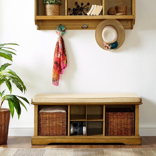 Wabasso Upholstered Storage Bench by Beachcrest Home