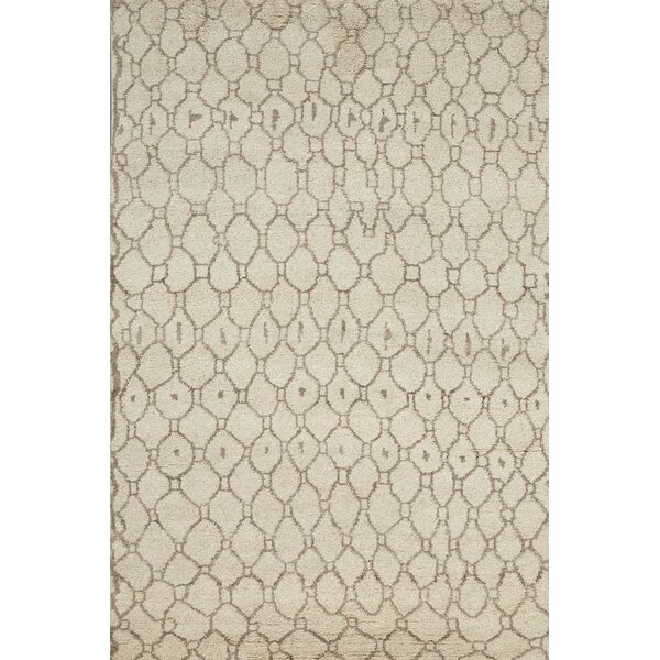 Bluestem Hand-Knotted Natural/Ecru Area Rug by Union Rustic