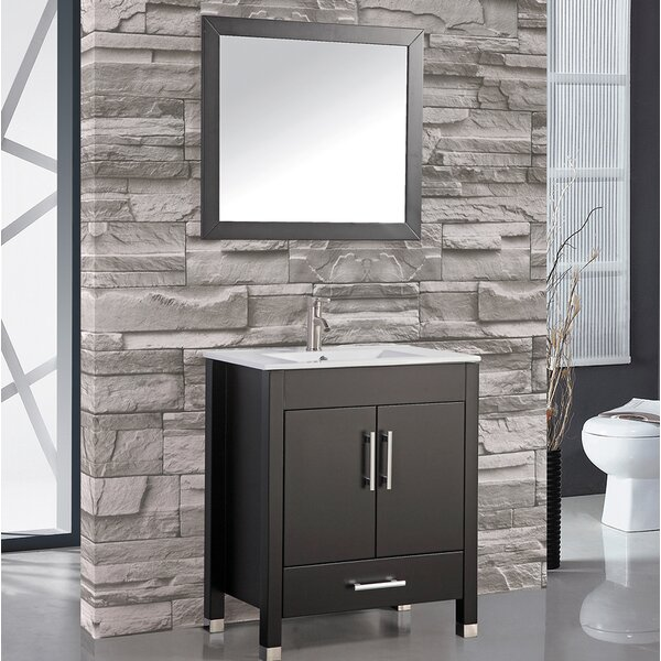 Prahl 24 Single Sink Bathroom Vanity Set with Mirror by Orren Ellis