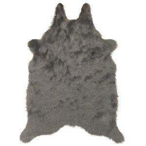 Sonnier Faux Sheepskin Silver/Gray Area Rug