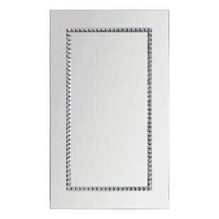 Rosdorf Park Embedded Jewels Framed Wall Mirror