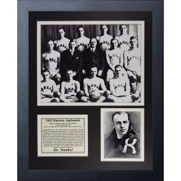 1923 Kansas Jayhawks Framed Memorabilia by Legends Never Die