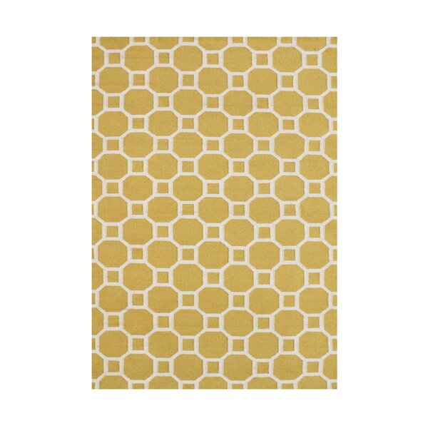 Annina  Hand-Tufted Yellow Area Rug by Wildon Home ®