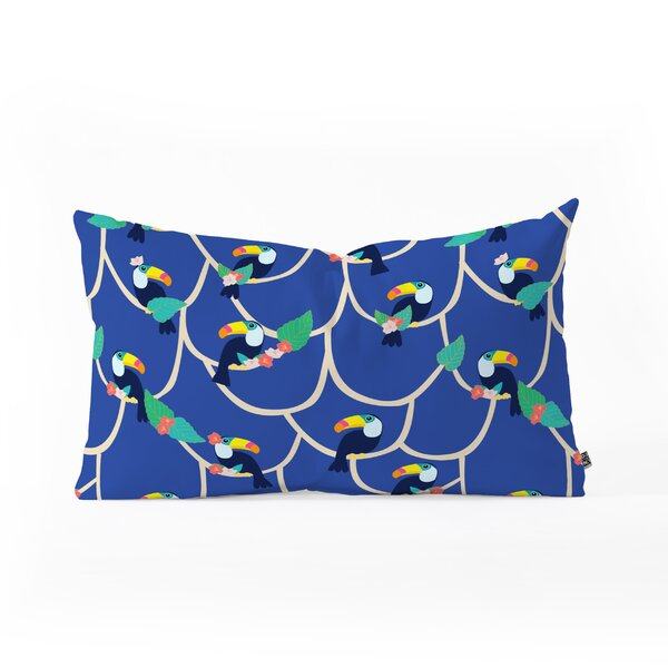 Hello Sayang Toucan Play This Game Oblong Lumbar Pillow by East Urban Home