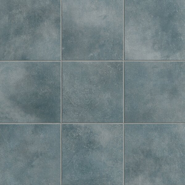 Poetic License 18 x 18 Porcelain Field Tile in Denim by PIXL