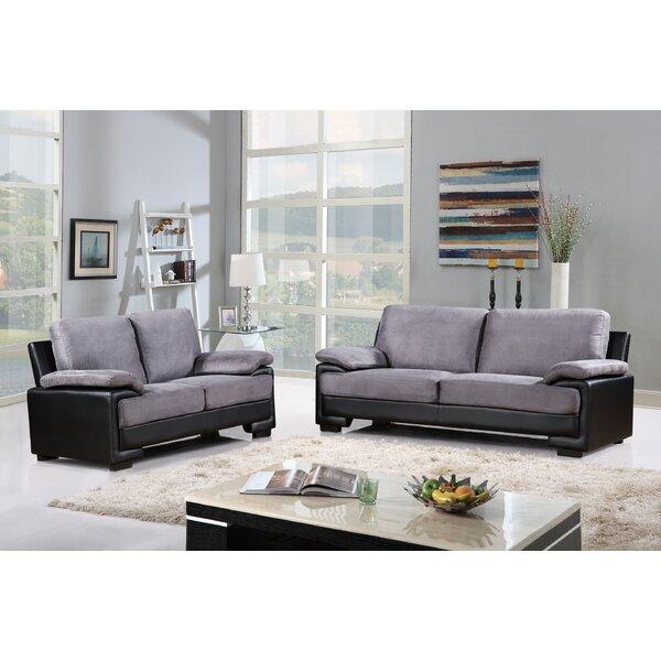 Warner Leather 2 Piece Living Room Set by Ebern Designs