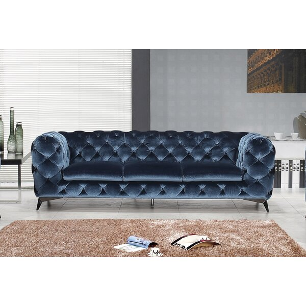 Vennie Upholstered Chesterfield Sofa by Everly Quinn