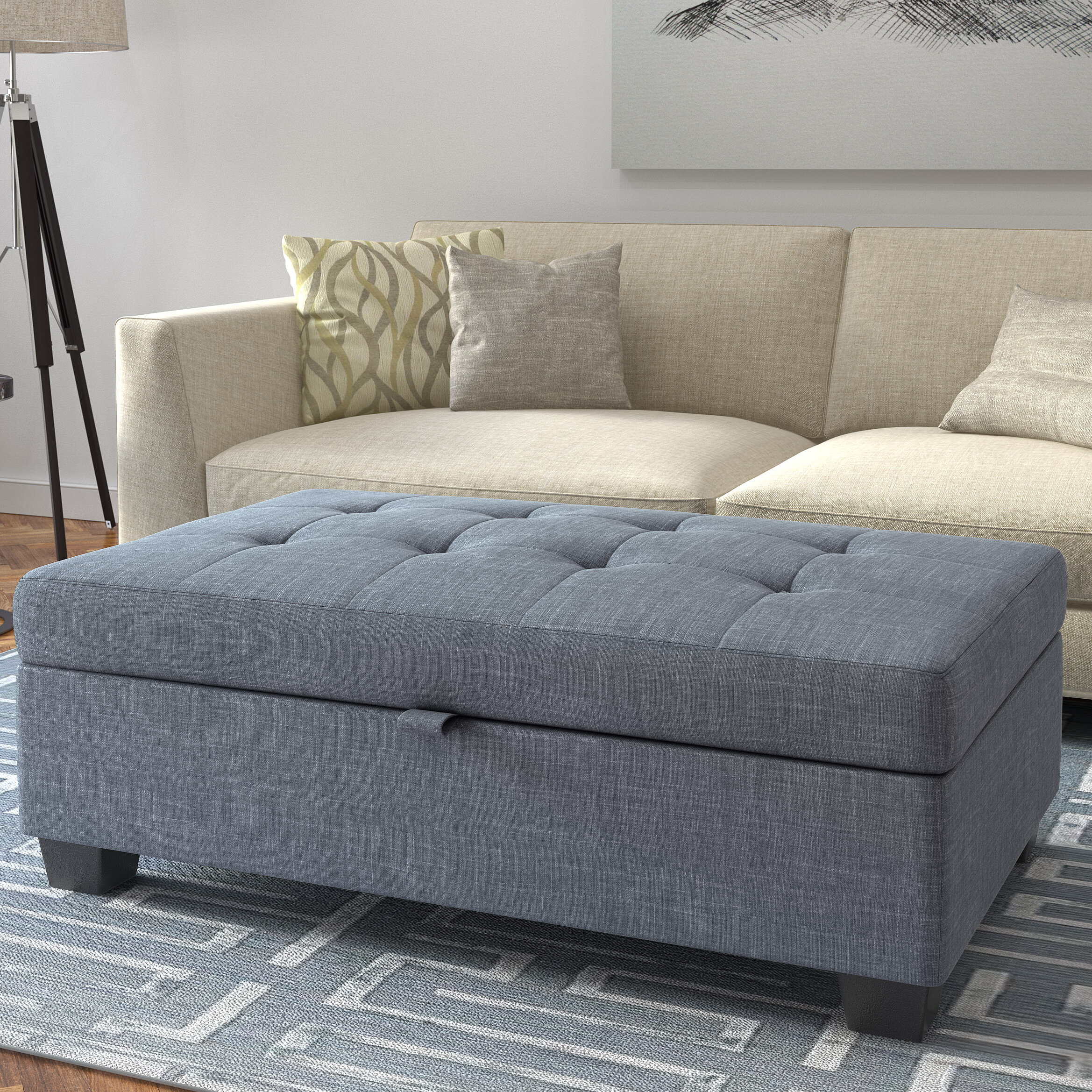 Cool Kincade Tufted Storage Ottoman Gmtry Best Dining Table And Chair Ideas Images Gmtryco