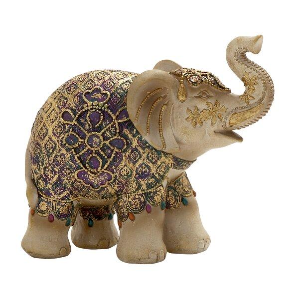 Leger Antique golden Elephant Figurine by World Menagerie