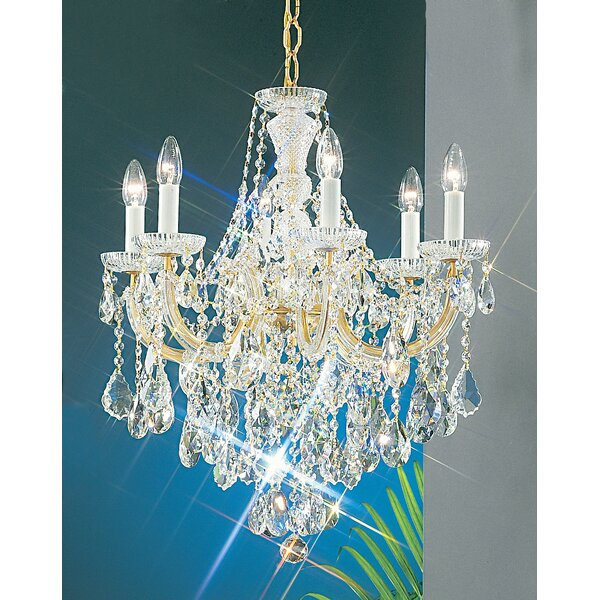 Gregson 6 - Light Candle Style Classic / Traditional Chandelier by House of Hampton House of Hampton