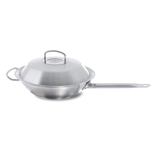 Original Profi 14 Stainless Steel Wok with Lid by Fissler USA