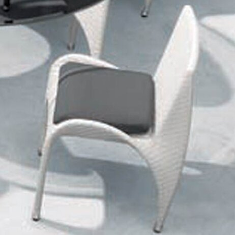 Rivage Stacking Patio Dining Chair with Cushion by 100 Essentials