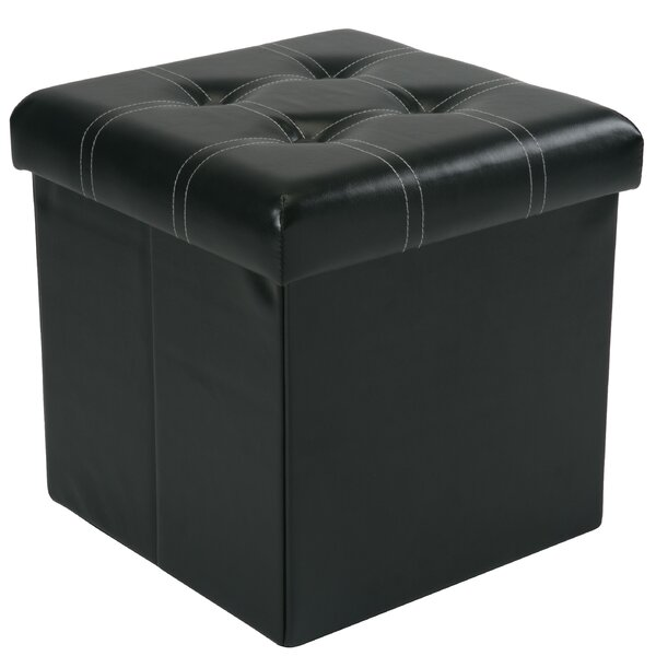 Hixson Stitch Design Collapsible Tufted Storage Ottoman by Winston Porter