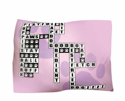 Rectangle Crossword Puzzle Dog Pillow by Dogzzzz