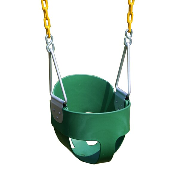 Heavy Duty High Back Full Bucket Swing with Coated Chain by Eastern Jungle Gym