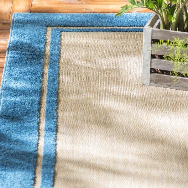 Binghamton Sand/Blue Outdoor Area Rug by Laurel Foundry Modern Farmhouse