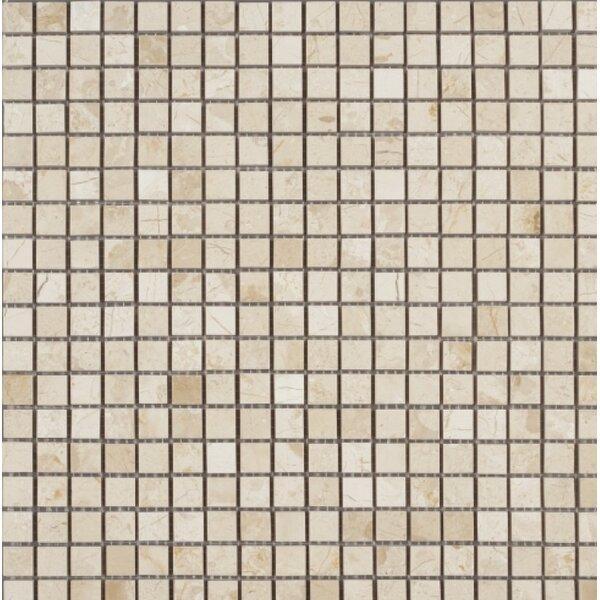 0.63 x 0.63 Mosaic Tile in Crema Nouva by Ephesus Stones