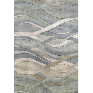 Gilliam Hand Tufted Dark Green Area Rug