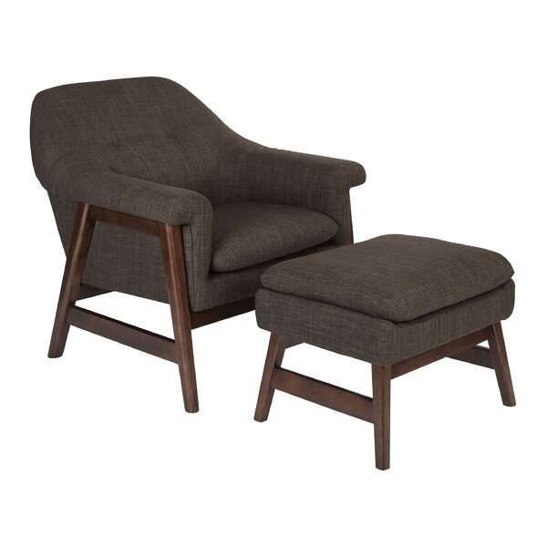 Wilber Lounge Chair and Ottoman by Corrigan Studio