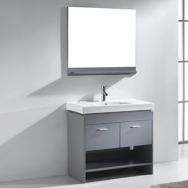 Frausto 35 Single Bathroom Vanity Set with Ceramic Top and Mirror by Brayden Studio