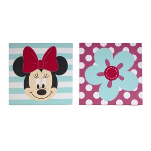 Minnie 2 Piece Canvas Art by Disney Baby
