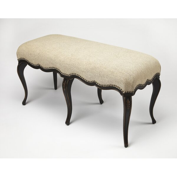 Dereck Cafe Noir Upholstered Bench by One Allium Way