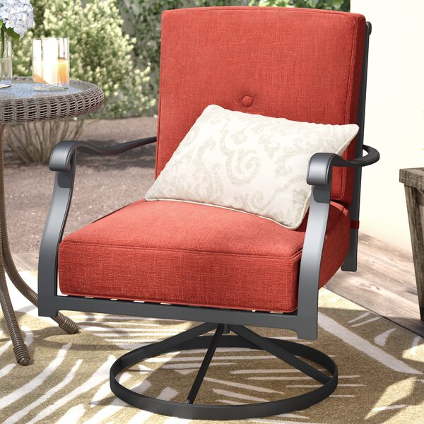 Hanson Swivel Patio Dining Chair with Cushions (Set of 2) by Darby Home Co