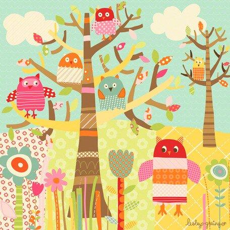 Pretty Owls Canvas Art by Oopsy Daisy