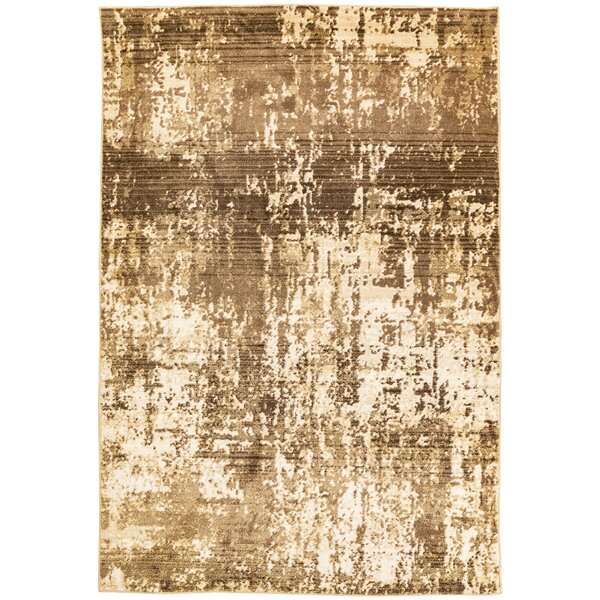 Rithland Static Brown/Beige Area Rug by Charlton Home