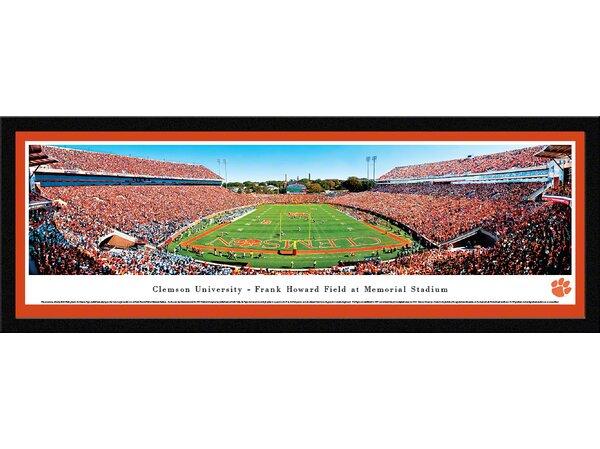 NCAA Clemson University - End Zone by Robert Pettit Framed Photographic Print by Blakeway Worldwide Panoramas, Inc