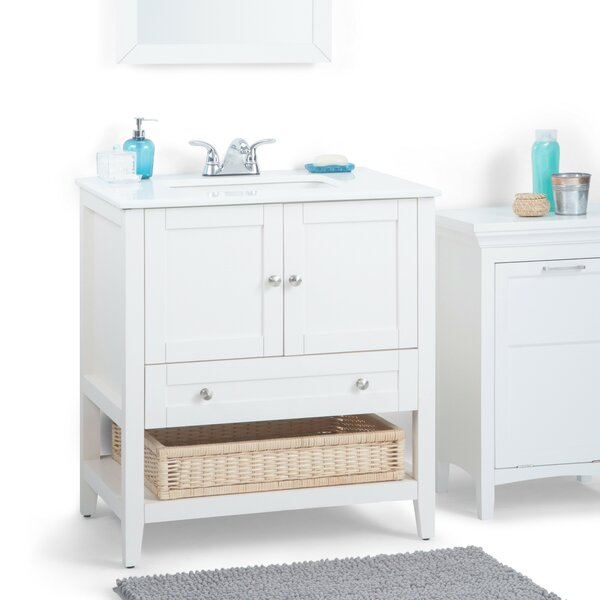 Cape Cod 31 Single Bathroom Vanity Set by Simpli Home