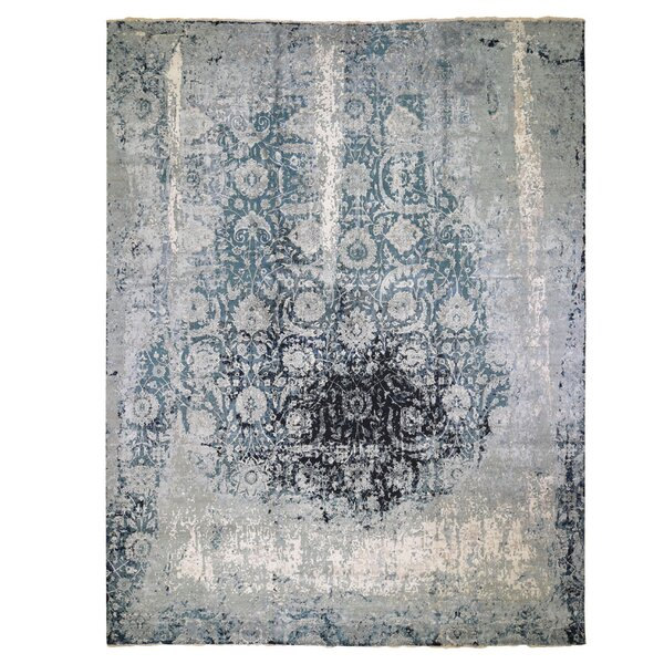 One-of-a-Kind Venturini Hand-Knotted Gray 12' x 15' Area Rug