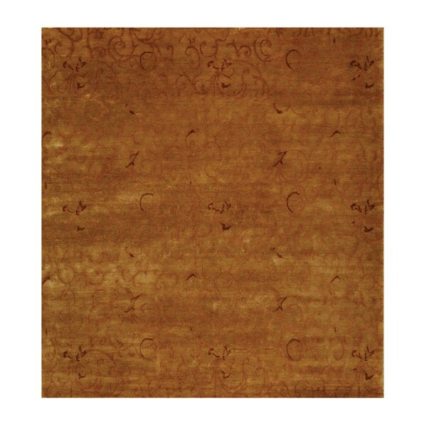 Metropolitan Hand Knotted Wool Beige/Rose Area Rug by Exquisite Rugs