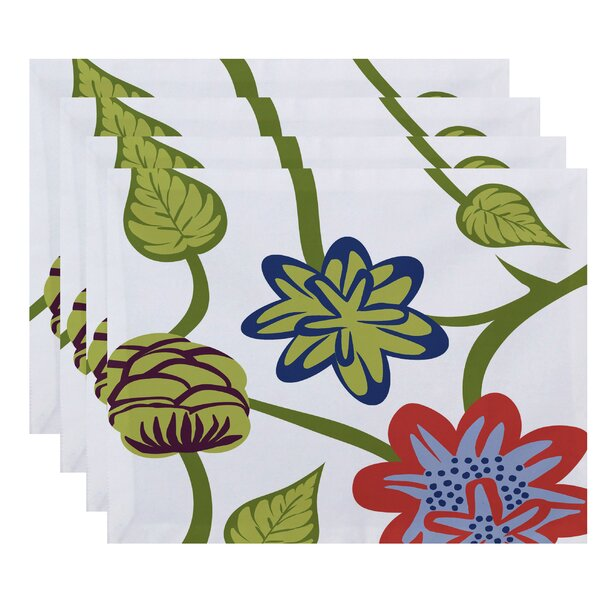 Grovetown Tropical Floral Print Placemat (Set of 4) by Red Barrel Studio
