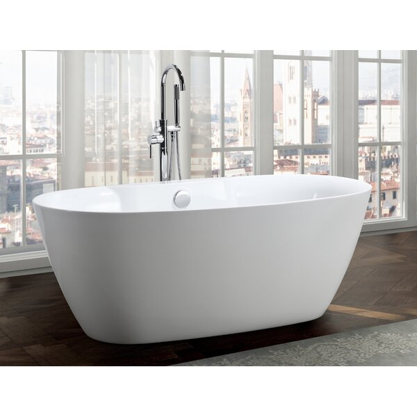 Pisa 63 x 31 Freestanding Soaking Bathtub by Bellaterra Home