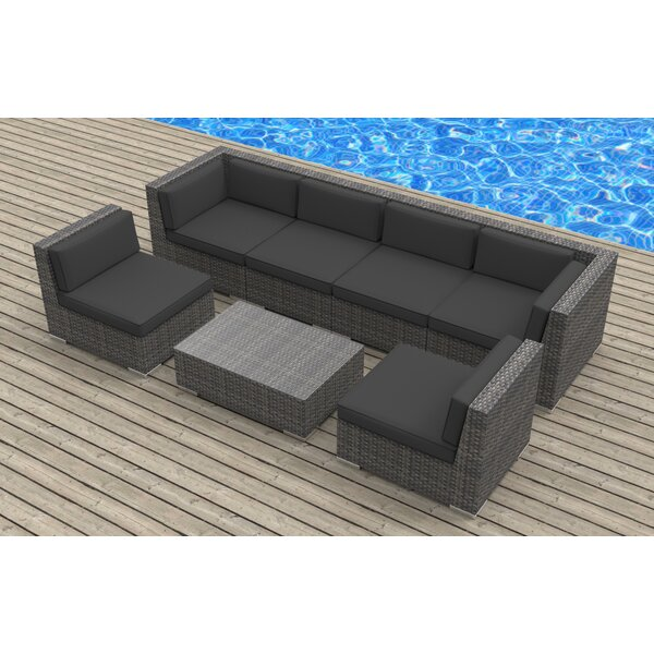 Kiser 7 Piece Rattan Sofa Seating Group with Cushions by Brayden Studio
