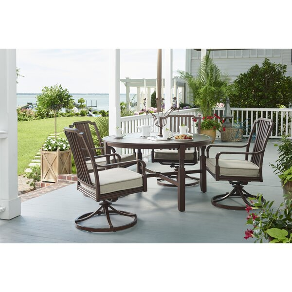 River House 5 Piece Dining Set With Cushions by Paula Deen Home