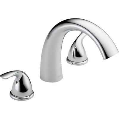 Deck Mount Double Handleed Tub Faucet Trim Chrome 1436 Product Photo