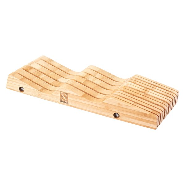 11 Slot Bamboo Drawer Knife Storage by Cook N Home