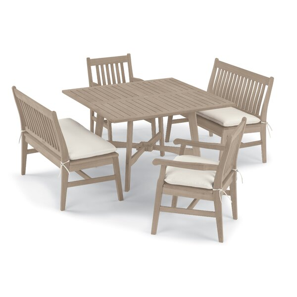 Laney 5 Piece Dining Set with Cushions by Breakwater Bay