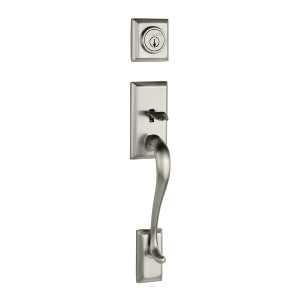 Hawthorne Double Cylinder Entrance Handleset with Smartkey, Exterior Handle Only by Kwikset