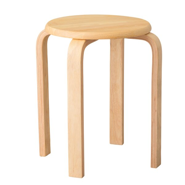 Rubberwood Stool by Emissary Home and Garden