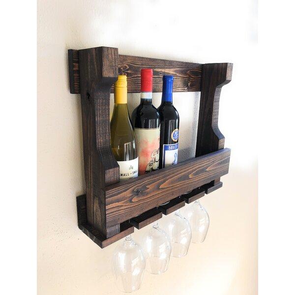 Lower West Side Holder 6 Bottle Wall Mounted Wine Rack by Millwood Pines