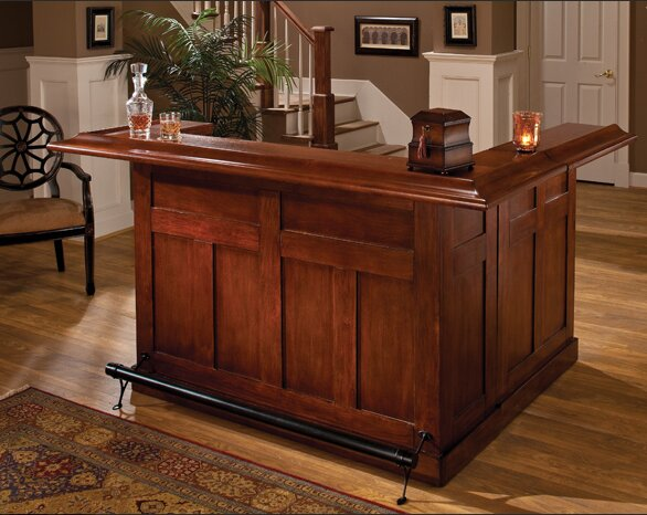 Darby home co danton bar with wine storage reviews wayfair - Alternative uses for formal living room ...