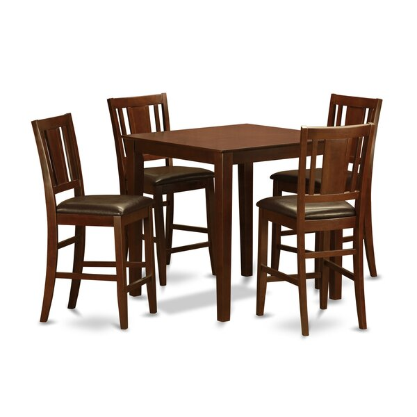 Spies 5 Piece Counter Height Pub Table Set by Charlton Home Charlton Home