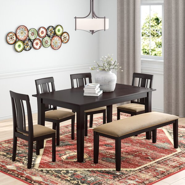 Oneill Modern 6 Piece Wood Dining Set by Andover Mills